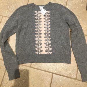 Club Monaco cute soft crop stretch sweater size M